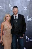 LAS VEGAS - APR 6:  Miranda Lambert, Blake Sheldon at the 2014 Academy of Country Music Awards - Arrivals at MGM Grand Garden Arena on April 6, 2014 in Las Vegas, NV