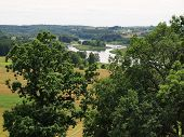 Lithuanian Historic Capital Kernave With Mounds And River Neris View From