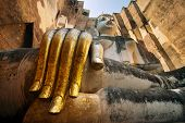Buddha statue in Wat Sri Chum temple, Sukhothai Historical Park, Thailand