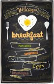 Chalk breakfast menu. I love breakfast. Eps10