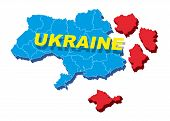 Separate Ukraine, spring events in 2014. Vector Illustration.
