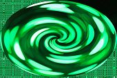 Green Neon Swirl - Color Background and Abstract Art Patterns