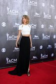 LAS VEGAS - APR 6:  Taylor Swift at the 2014 Academy of Country Music Awards - Arrivals at MGM Grand