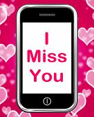pic of miss you  - I Miss You On Phone Meaning Sad Longing Relationship - JPG