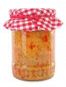 Pinjur chutney relish homemade product