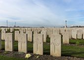 Bard Cottage Cemetery At Ypres, Flanders, Belgium - Landscape.