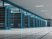 foto of intranet  - Servers room on a hosting data center - JPG