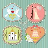 Label With Wedding Elements