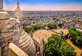 Cityscape Of Paris From Sacre Coeur Cathedral