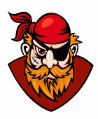 picture of buccaneer  - Head of danger buccaneer in cartoon style - JPG