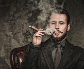 picture of cigar  - Handsome well - JPG