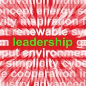 Leadership Word Shows Authority Guide Or Management