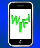 Wifi On Phone Shows Internet Hotspot Wi-fi Access Or Connection
