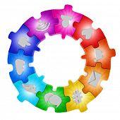 Social media network puzzle