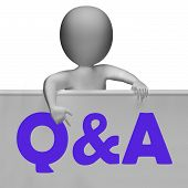 Q&a Blackboard Shows Inquiries Responses And Information
