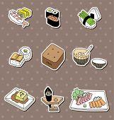 Cartoon Japanese Food Stickers