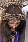 Mafra, Portugal - September 02, 2013: Statue of Jesus Christ with the Thorns Crown during the Passio