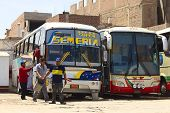 Cleaning a Bus in Chiclayo, Peru