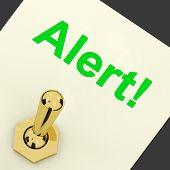 Alert! Switch Shows Danger Warning Or Beware