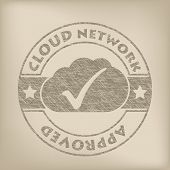 Cloud Network Approved Grunge Seal
