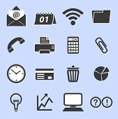 stock photo of handphone  - Series of multiple icons for business purposes - JPG