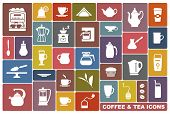 Icons of tea and coffee