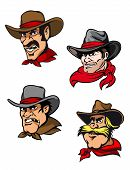 Cartoon Cowboys Set