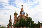 St. Basil's Cathedral On The Red Square In Moscow