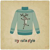 cute sweater old background