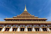 Thai buddhist temple Phra That Nong Waeng, in Khon Kaen, Thailand