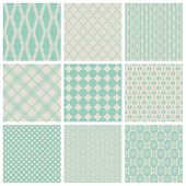 set of 9 seamlessly tiling small patterns (saved in the patterns/colors palette)