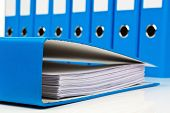 pic of contract  - file folder with documents and documents - JPG