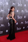 LAS VEGAS - APR 6:  Katie Armiger at the 2014 Academy of Country Music Awards - Arrivals at MGM Gran