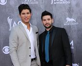 LAS VEGAS - APR 6:  Dan Smyers, Shay Mooney, Dan & Shay at the 2014 Academy of Country Music Awards