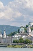 Salzach River On Its Way Through Salzburg, Austria