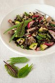 image of sorrel  - Vernal lentil salad with red radish - JPG