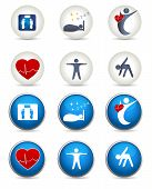 Good Sleep, Fitness And Other Healthy Living Icons