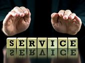 Conceptual Image With The Word Service