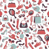 Seamless woman accessories background