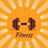Vintage fitness poster background