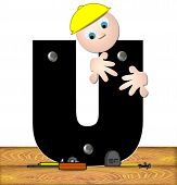 Alphabet Construction Worker U