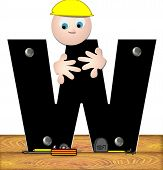 Alphabet Construction Worker W