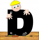 Alphabet Construction Worker D