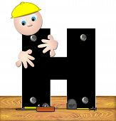 Alphabet Construction Worker H