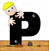 foto of letter p  - The letter P in the alphabet set  - JPG