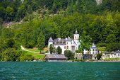 Castle On Hallstatt Lake Shore