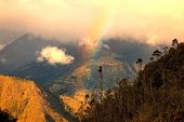 Rainbow Over The Andes