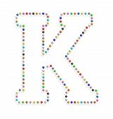 Letter K With Pushpin
