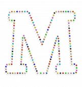 Letter M With Pushpin