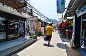 Krabi,thailand - April 14, 2014: The Tourist Visit Small Touristic Village At Phi Phi Island, Krabi